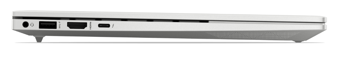 HP ENVY 14 Laptop side view, showing available ports